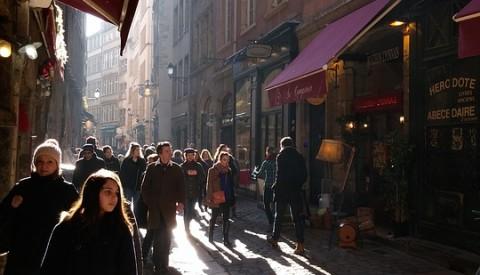 Shopping in Lyon.