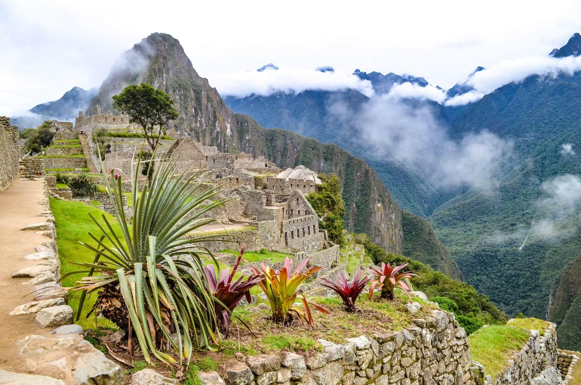 Die antike Mayastadt Machu Picchu in Peru.
