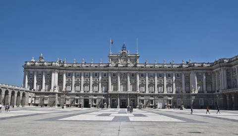 Der Palacio Real in Madrid.