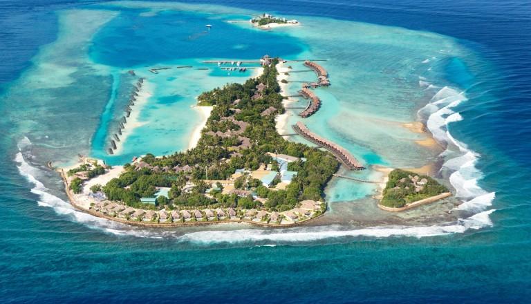 Insel der Malediven am nördlichen Atoll.