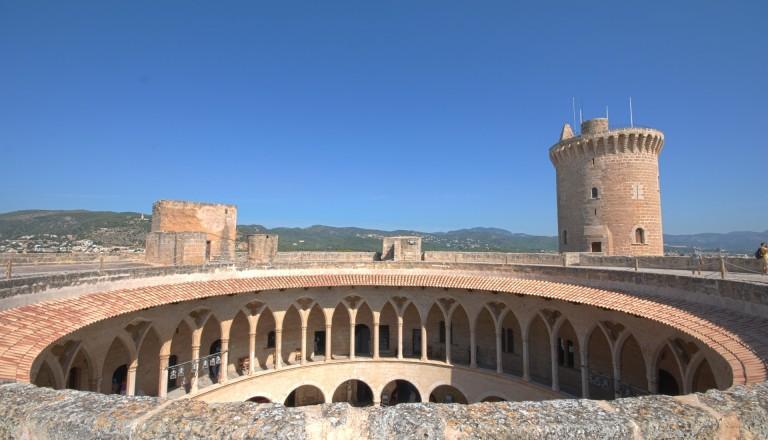 Das Castillo de Bellver in Palma de Mallorca.