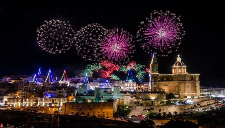 Malta Party Feuerwerk