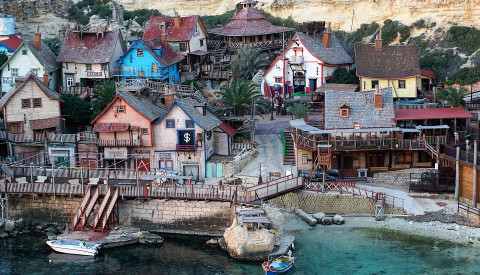 Spaß für jede Zielgruppe: Das Popeye Village auf Malta.