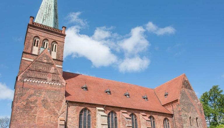 Die Marienkirche in Bergen auf Rügen. Reisen.