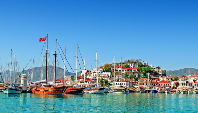 Der malerische Hafen von Marmaris.