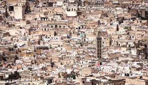 Die Altstadt von Marrakesch in Marokko