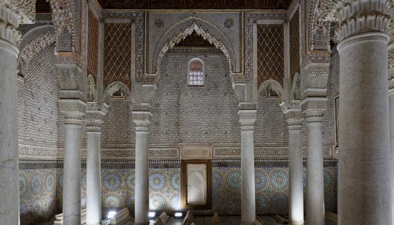 Das Saadier Grabmal in Marrakesch.