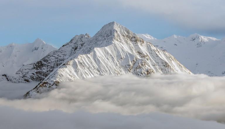 Das Zillertal in den österreichischen Alpen. Mayrhofen.
