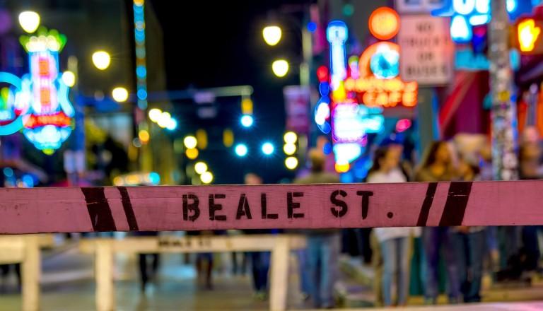 Die Beale Street in Memphis.