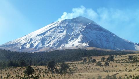 Der Iztaccihuatl: Ein Vulkan unweit von Mexiko Stadt.