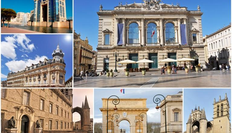Sehenswürdigkeiten in Montpellier.