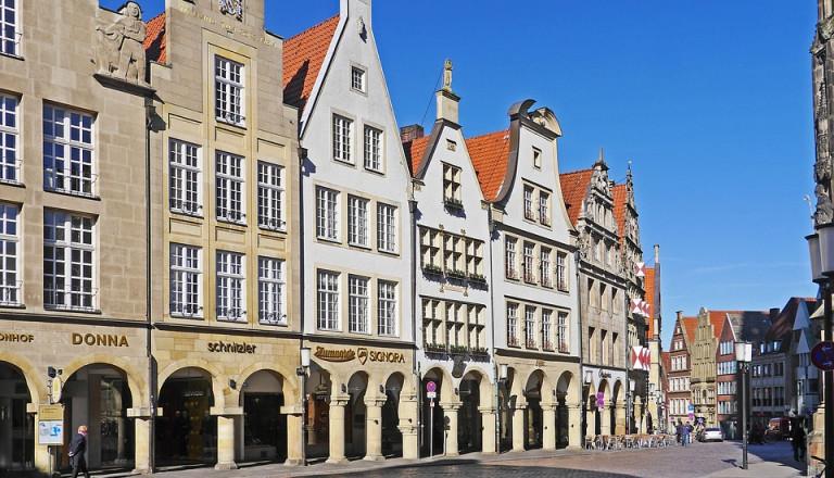Der Prinzpalmarkt in der Altstadt vom Münster