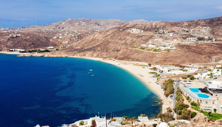 Der Elia Beach auf Mykonos.