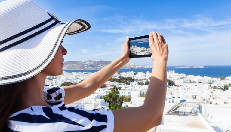 Mykonos Touristin Partyurlaub