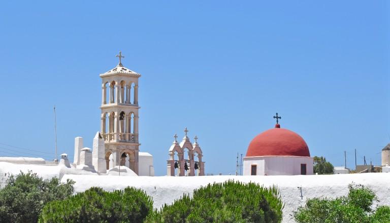 Das Kloster Panagia Tourliani auf Mykonos