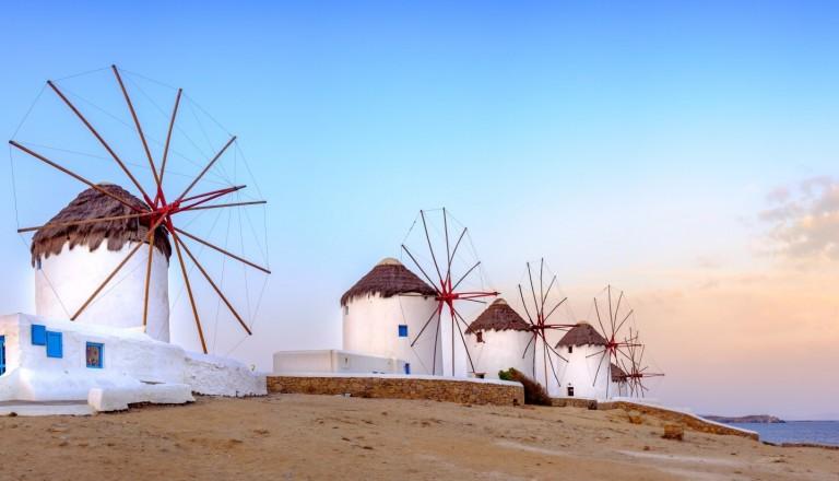 Windmühlen Mykonos.