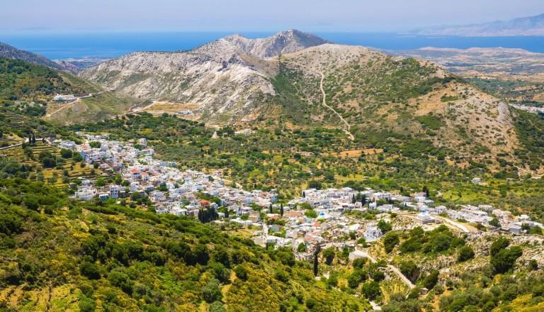 Das pittoreske Bergdorf Chalki auf Naxos