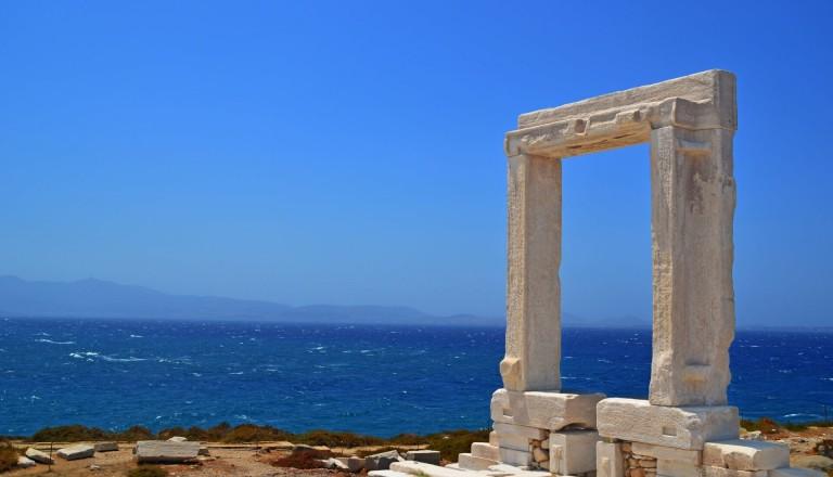 Die Portara von Naxos.