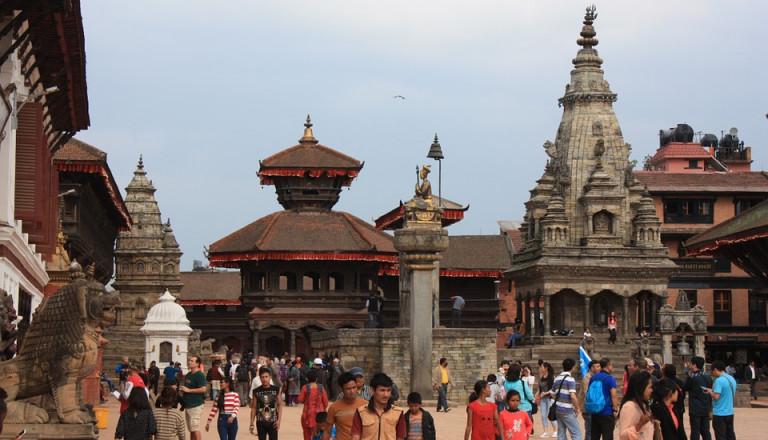 Die alte Königsstadt Bhaktapur gehört zum Weltkulturerbe in Nepal