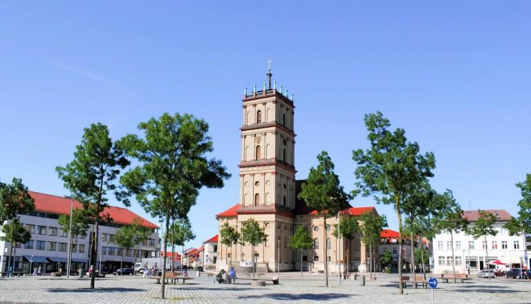 Die Stadtkirche von Neustrelitz.