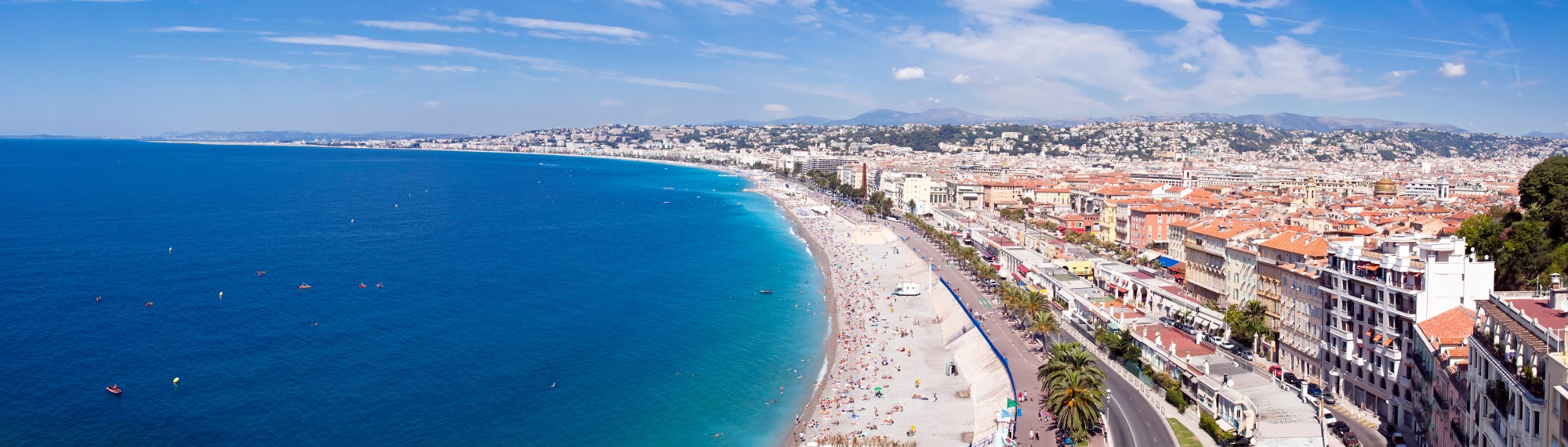 Nizza Stadtteile Panorama