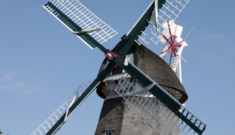 Ein Wahrzeichen von Norderney - ihre Windmühle.