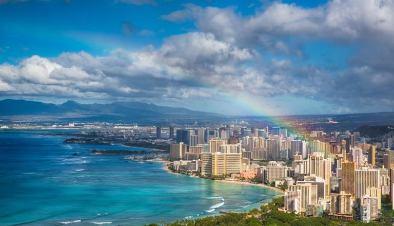 Hochzeitsreise Hawaii Waikiki Beach Oahu Honululu