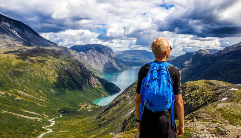 Backpacker in Norwegen