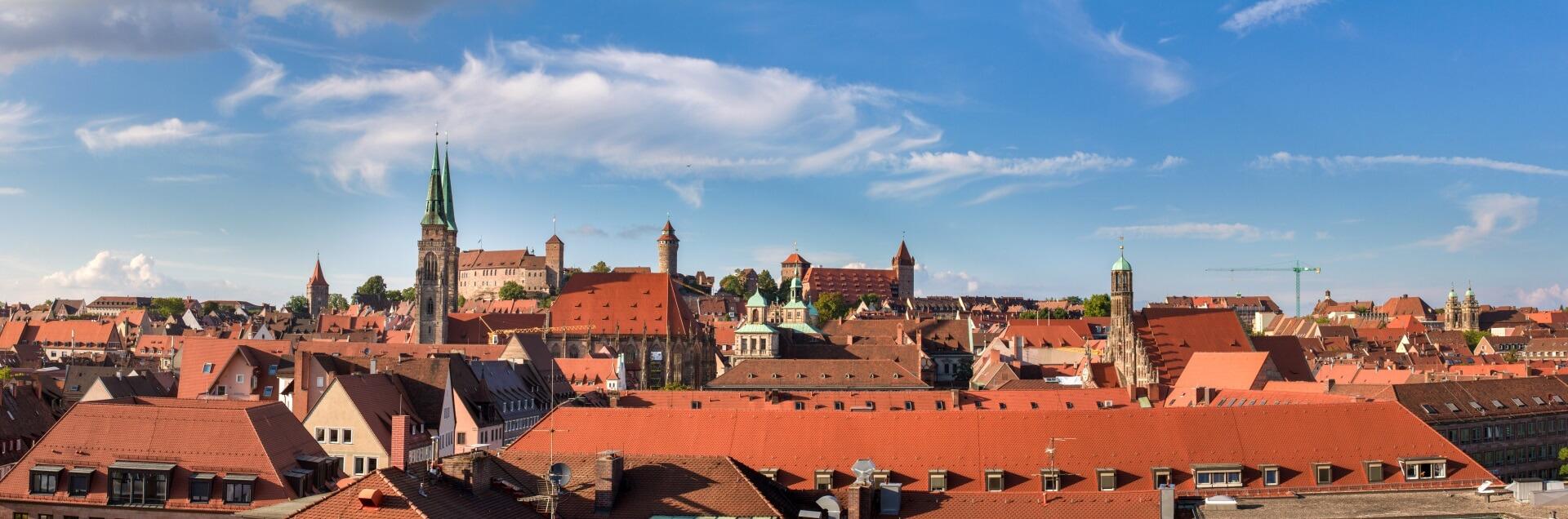 Nürnberg Städtereisen Panorama Stadtteile