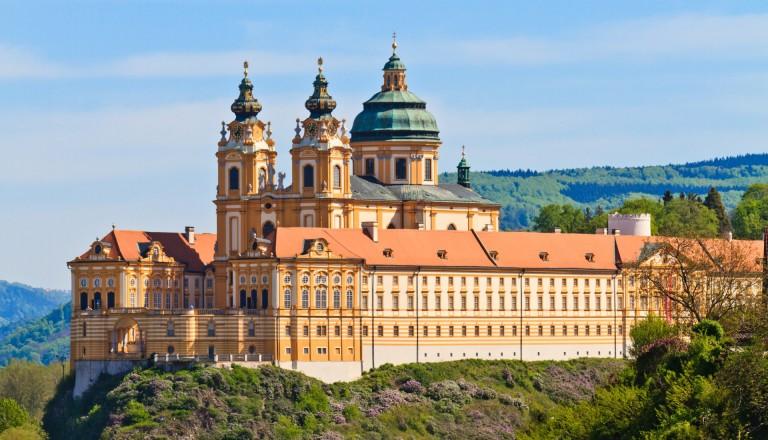 Das Benediktinerstift Melk in Niederösterreich.