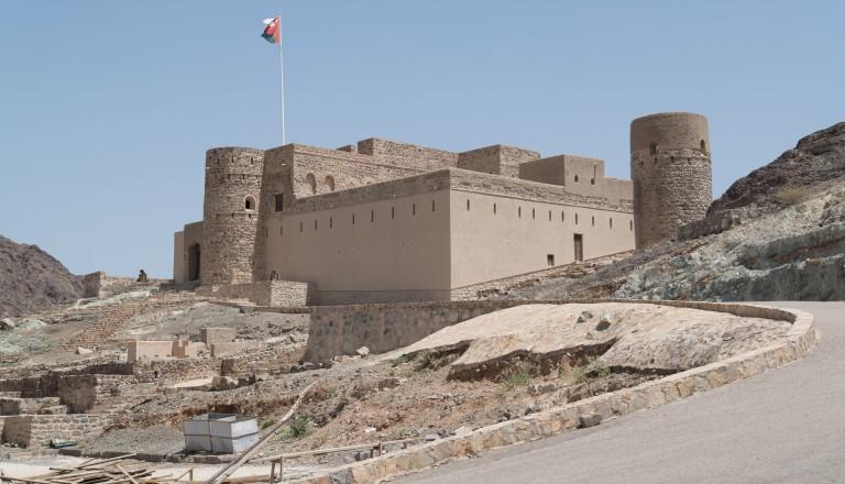 Der Festungspalast von Jabrin im Oman.