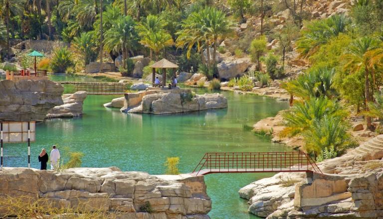 Der Wadi Bani Khalid im Oman.