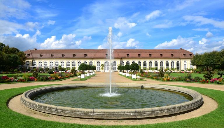 Orangerie mit Hofgarten in Ansbach