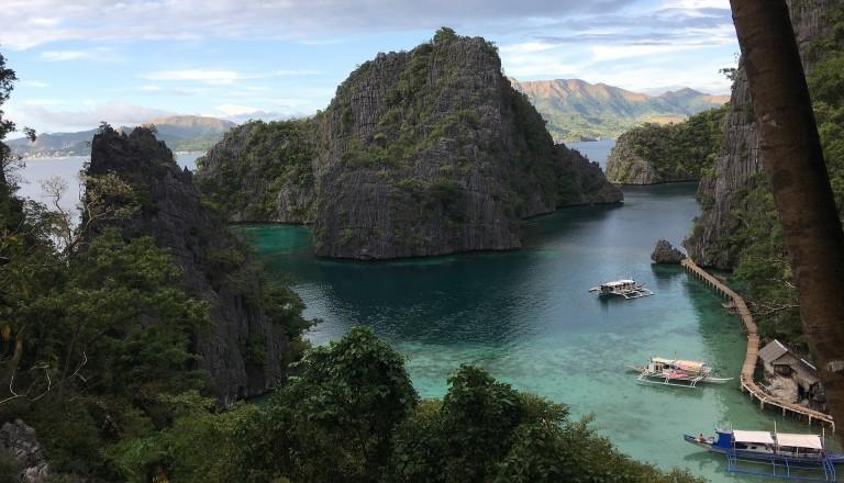 Palawanbucht auf den Philippinen