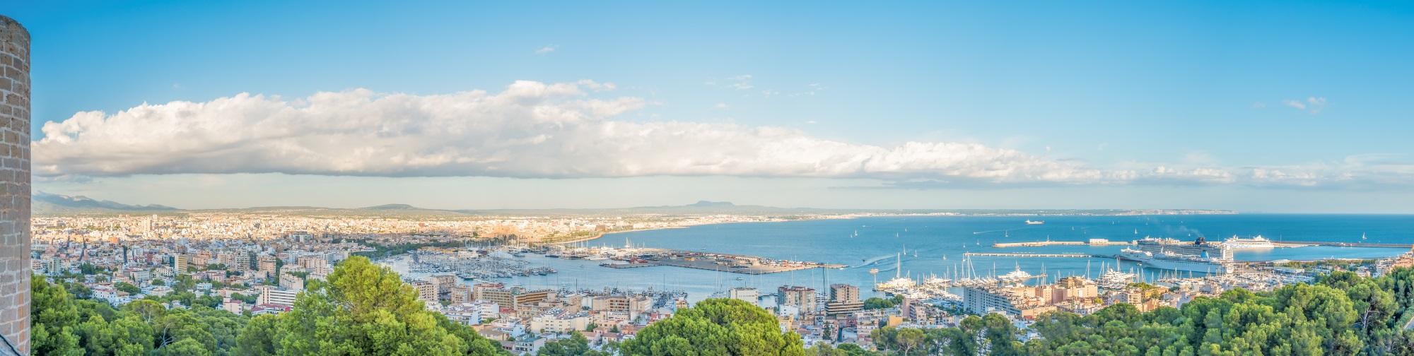 Palma de Mallorca Hafenpanorama