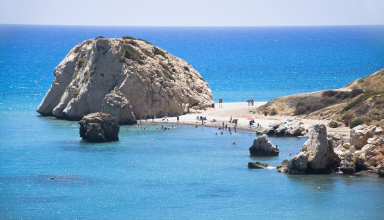 Der Felsen der Aphrodite auf Paphos.