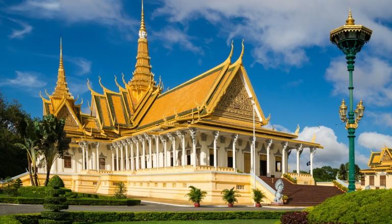 Der königliche Palast in Phnom Penh in Kambodscha.