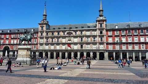 Der Plaza Major in Madrid.