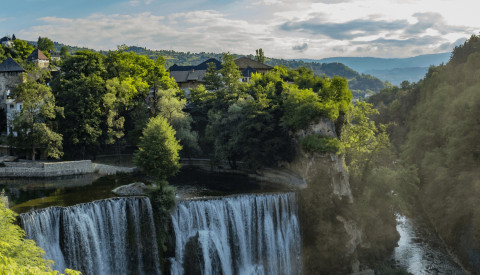 Pliva Wasserfall
