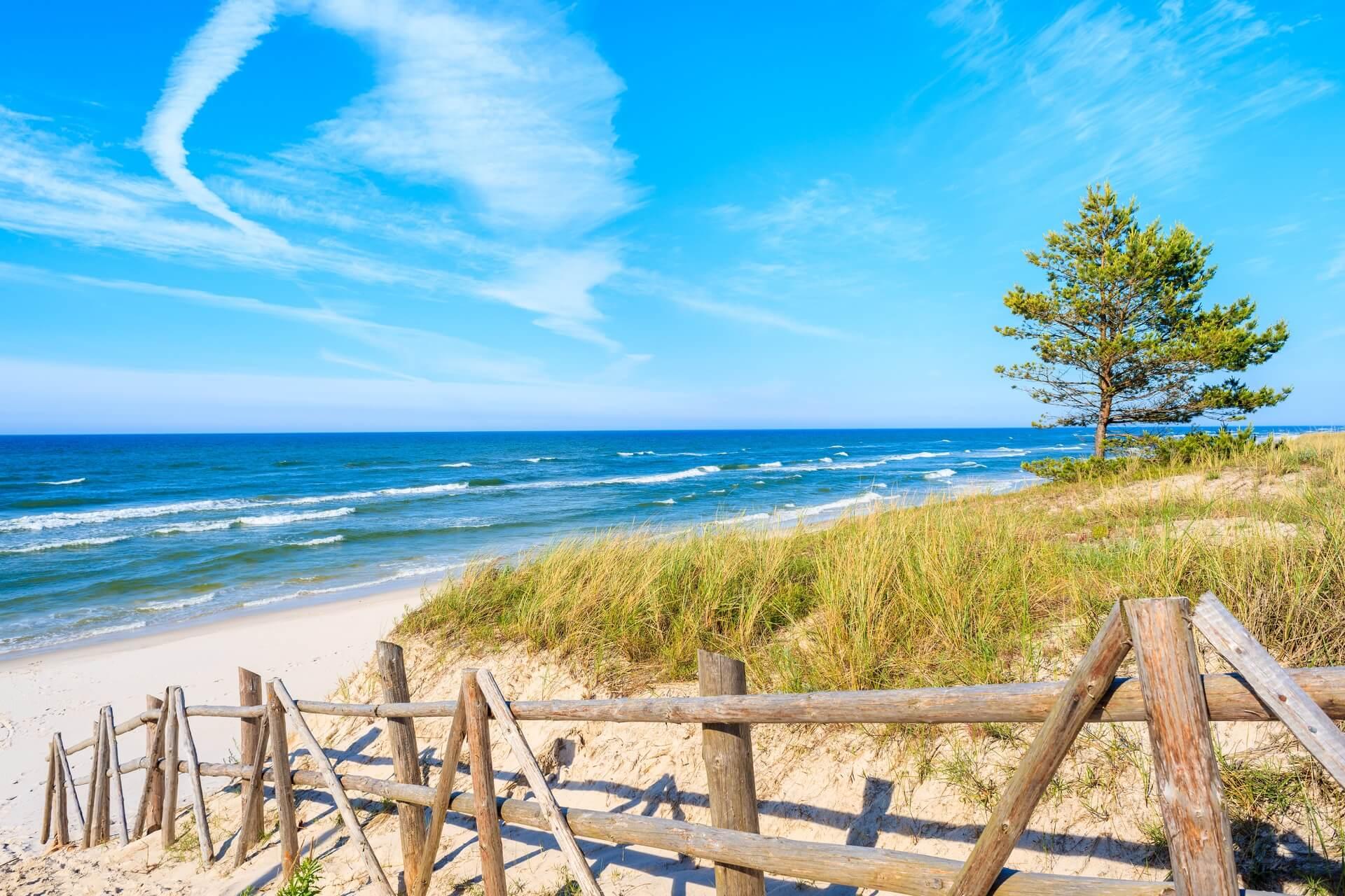 Polen-Sandstrand-Ostsee