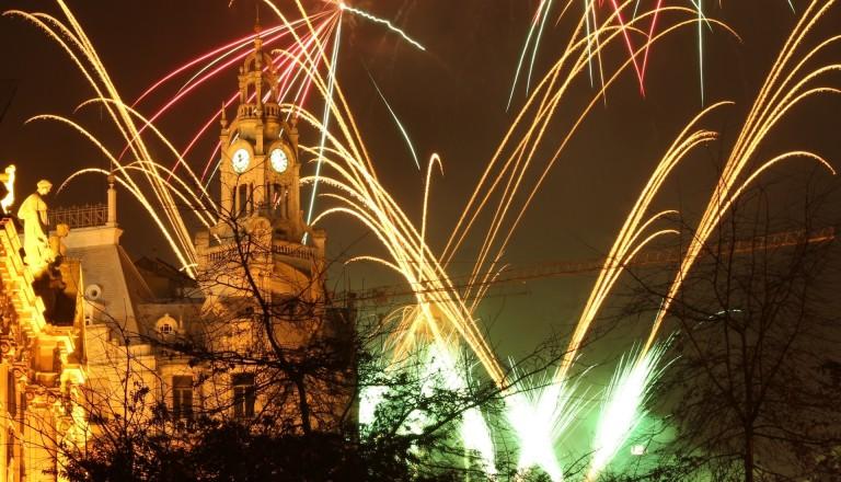 Events in Porto. Feuerwerk.