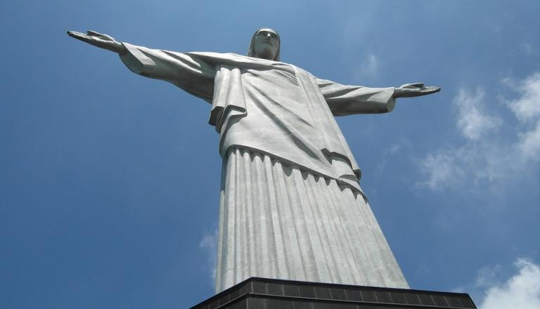 Die weltberühmte Christo-Erlöser-Statue auf dem Corcovado.
