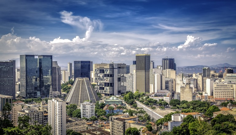 Rios moderne Innenstadt.