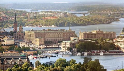 Der königliche Palast von Stockholm.