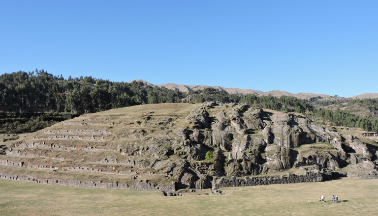 Die Ruinen Sacsayhuaman außerhalb von Cusco.