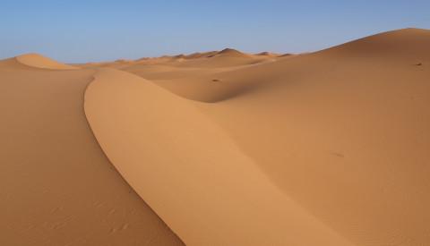 Wüstenzauber in der Marokkos Sahara.