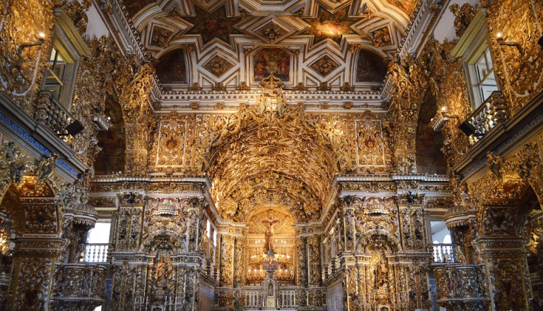 Das Interieur der Kathedrale Sao Francisco in Salvador