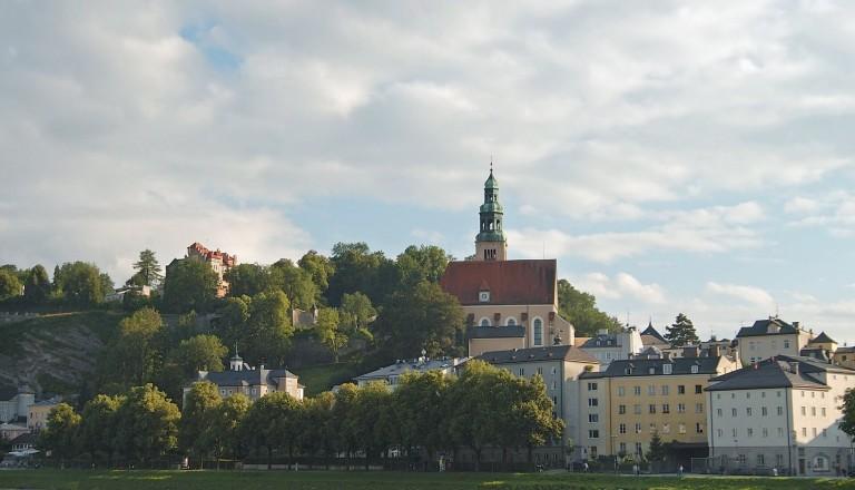 Die Muellner Kirche in Salzburg.
