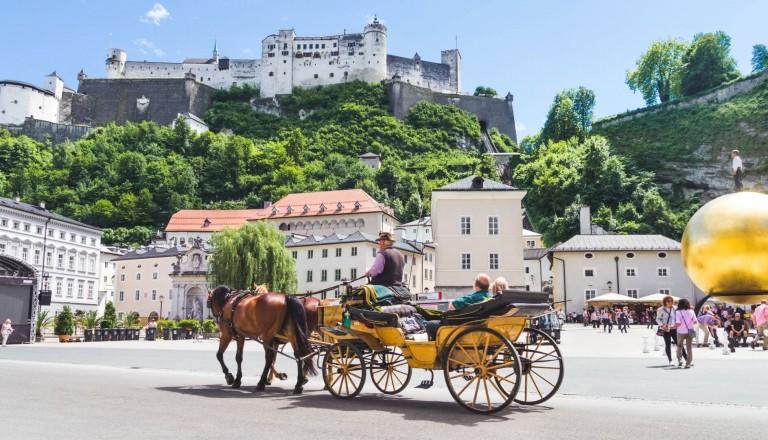 Salzburg Kultur Pferdewagen