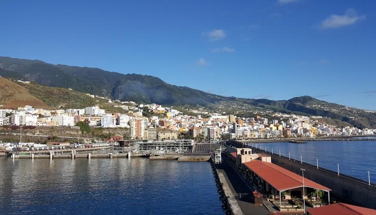 Der Hafen von Santa Cruz de La Palma.